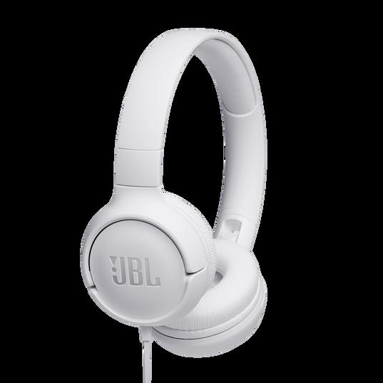 JBL TUNE 500 - White - Wired on-ear headphones - Hero