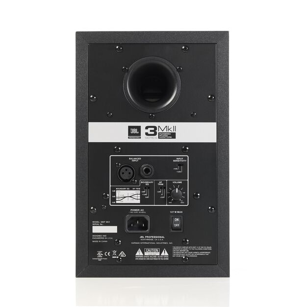 "JBL 305P MkII - Black - Powered 5"" (10.16 cm) Two-Way Studio Monitor - Back"