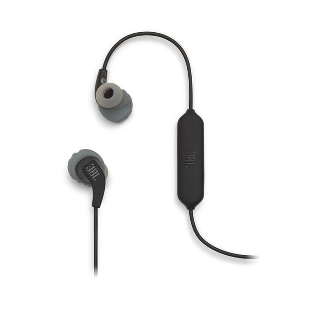 JBL Endurance RUNBT - Black - Sweatproof Wireless In-Ear Sport Headphones - Detailshot 1