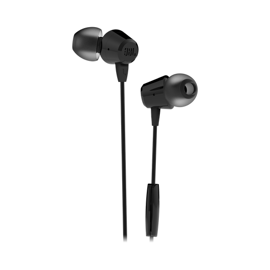 JBL C50HI - Black - In-Ear Headphones - Hero