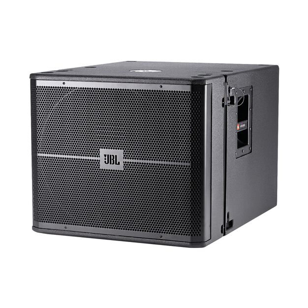 "JBL VRX918SP - Black - 18"" High Power Powered Flying Subwoofer - Hero"
