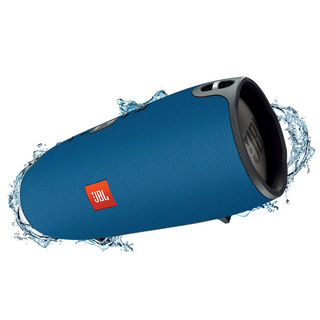 JBL Xtreme - Blue - Splashproof portable speaker with ultra-powerful performance - Hero
