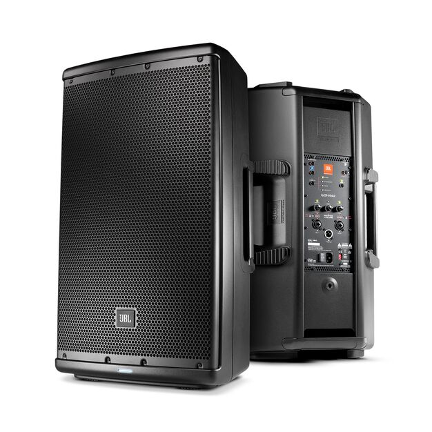 "JBL EON612 - Black - 12"" (30.48 cm) Two-Way Multipurpose Self-Powered Sound Reinforcement - Hero"
