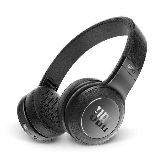 JBL Duet BT - Black - Wireless on-ear headphones - Hero