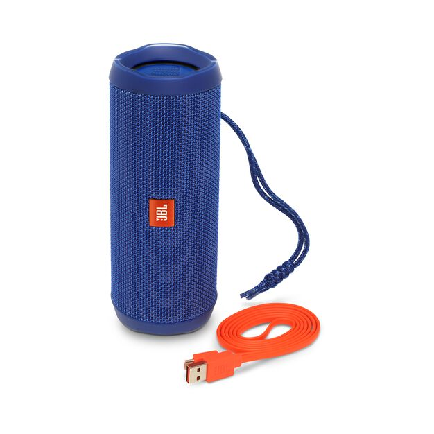 JBL Flip 4 - Blue - A full-featured waterproof portable Bluetooth speaker with surprisingly powerful sound. - Detailshot 1