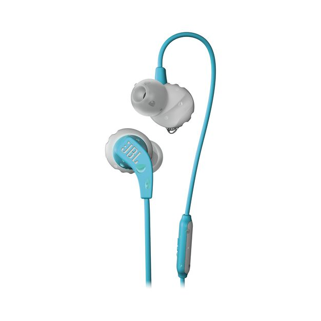 JBL Endurance RUN - Teal - Sweatproof Wired Sport In-Ear Headphones - Hero