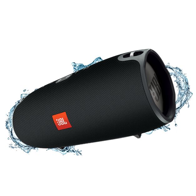 JBL Xtreme - Black - Splashproof portable speaker with ultra-powerful performance - Hero