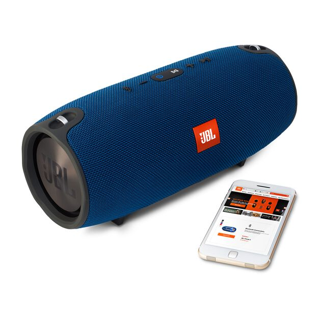 JBL Xtreme - Blue - Splashproof portable speaker with ultra-powerful performance - Detailshot 4