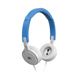 T300A - Blue - On-ear headphones with a single button remote/mic that come in a variety of colors - Hero