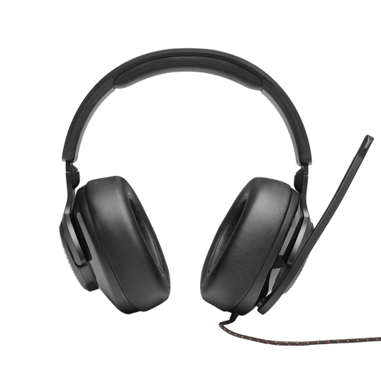JBL Quantum 300 - Black - Hybrid wired over-ear gaming headset with flip-up mic - Front