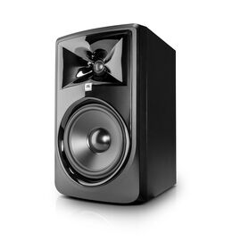 "JBL 308P MkII - Black - Powered 8"" Two-Way Studio Monitor - Hero"
