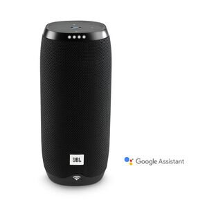 JBL Link 20 - Black - Voice-activated portable speaker - Hero