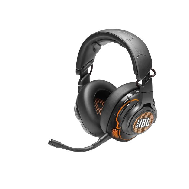 JBL Quantum ONE - Black - USB wired over-ear professional gaming headset with head-tracking enhanced JBL QuantumSPHERE 360 - Hero