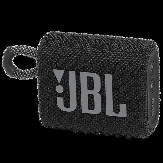 JBL GO 3 - Black - Portable Waterproof Speaker - Hero