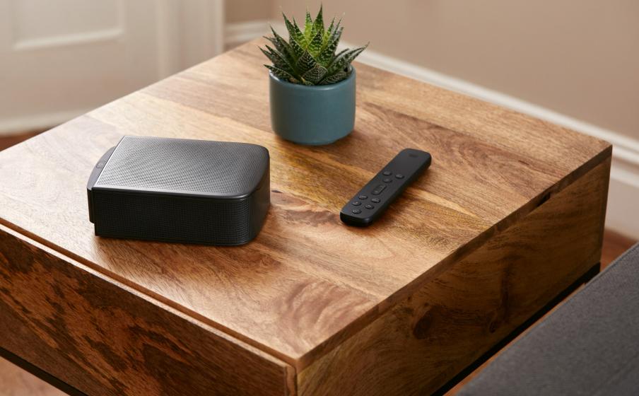 As caixas de som destacáveis podem ser colocadas em qualquer lugar